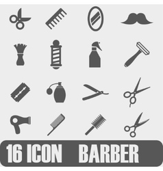 Icon Barber On white background vector