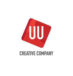 initial letter uu logo template design vector image