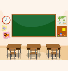 Interior of a classroom vector