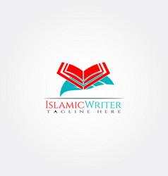 Islamic logo templatequran icon design element vector