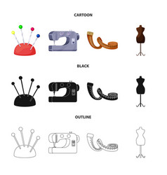 isolated object of craft and handcraft symbol set vector image
