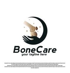 Knee bone care logo design simple human bone vector