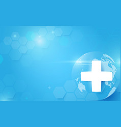 medicine and science with global abstract digital vector image