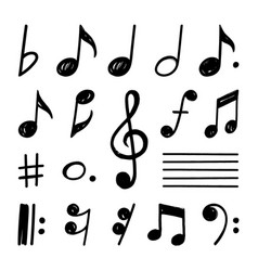 Music note hand draw set concept eps 10 vector