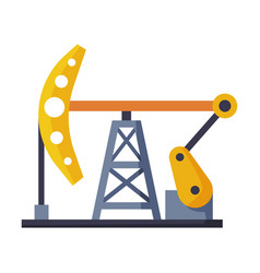oil pump jack oil industry production equipment vector image
