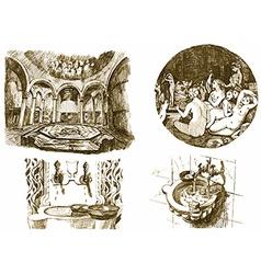 oriental spa vector image