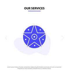 our services pentacle satanic project star solid vector image