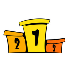 podium winners icon icon cartoon vector image