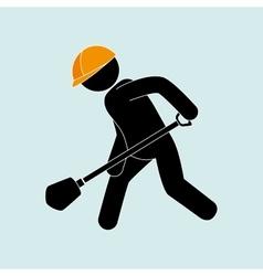 professional construction design vector image