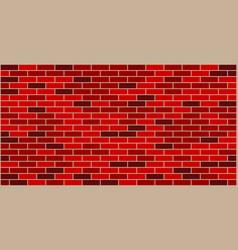 red black brick wall texture vector image