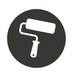 roller tool construction icon vector image