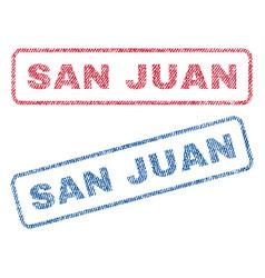 San juan textile stamps vector