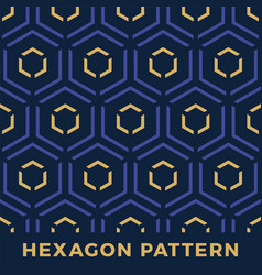 seamless hexagon arrow seamless pattern denim vector image