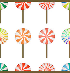 seamless pattern of lollipops - christmas vector image
