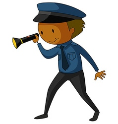 Security guard vector image vector image