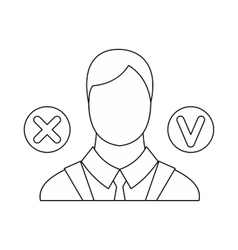 Selection icon outline style vector