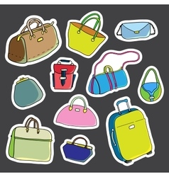Set of stickers Women bags vector