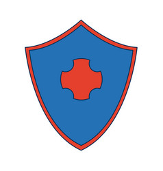 Shield protection health care symbol design vector