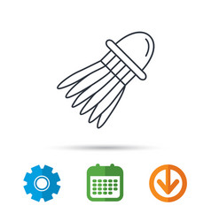 Shuttlecock icon badminton sport equipment vector