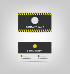 simple business card design template vector image