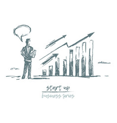 start up concept investment business charts vector image