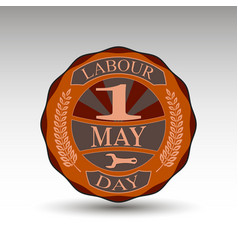 the green badge for labour day vector image