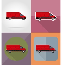 transport flat icons 12 vector image