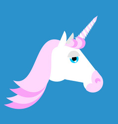 unicorn head isolated fabulous beast in horn vector image