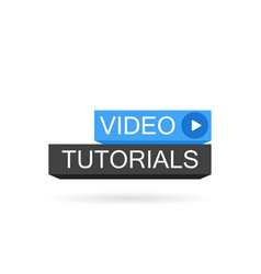 Video tutorials button modern vector