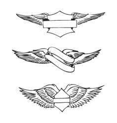 Vintage emblem designs vector
