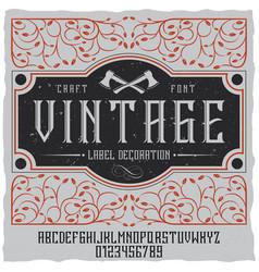 Vintage label decoration poster vector