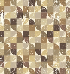 Vintage tattered seamless pattern geometric vector