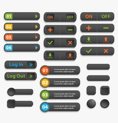 web buttons realistic vector image