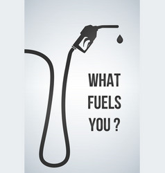what fuels you banner gasoline pump nozzle vector image