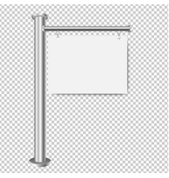 white sign for sale isolated transparent vector image