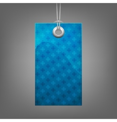 Blue price tag with snowflake vector image vector image