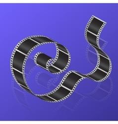 Cine-film on a gradient background vector image