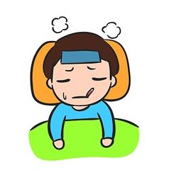 Little Boy Sick Stock vector image