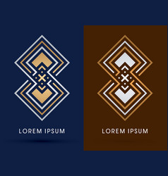 Luxury abstract square vector