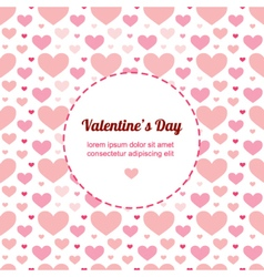 Valentines Day card template with hearts vector image