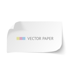 White blank paper curved horizontal banner with vector image