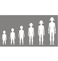 Child figure vector image
