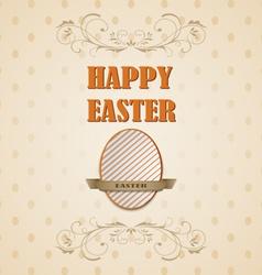 Happy Easter retro card vector image vector image