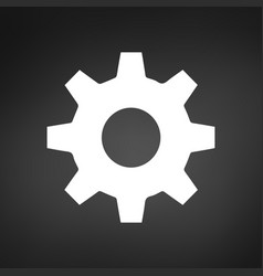 setting icon tools cog gear sign isolated in vector image
