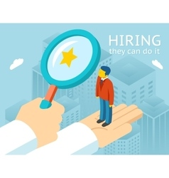 Choosing person for hiring vector image