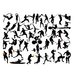 collection of athleats vs vector image vector image