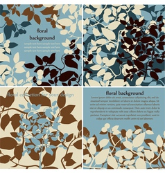 collection of floral background vector image vector image