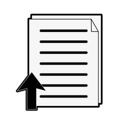 document upload icon image vector image vector image