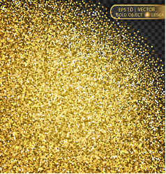 gold sparkles on a transparent background vector image