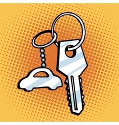 Keychain car keys vector